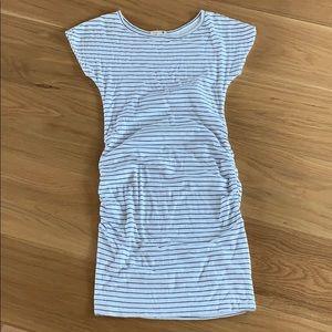 Sundry Bodycon Mini Dress - White Blue Stripe - S